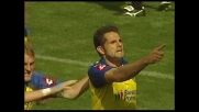 Pellissier è tutto solo sul primo palo e realizza il goal del pareggio col Genoa