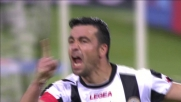 Di Natale segna il goal vittoria contro la Lazio
