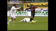 Amoroso si infila nella difesa del Milan e conquista il calcio di rigore