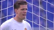 All'Olimpico Pazzini segna su rigore il goal del pareggio tra Roma e Verona