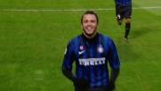Pazzini realizza il goal del pareggio nel match Inter-Lecce