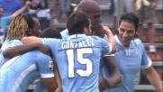 Con un incursione aerea Dias mette a segno il goal del vantaggio per la Lazio