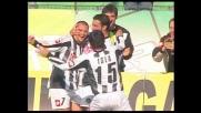 Quagliarella firma terzo goal dell'Udinese sulla Fiorentina