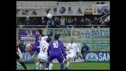 Fiore segna il goal vittoria per la Fiorentina contro il Treviso