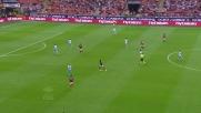 Muntari arriva puntuale in area: goal contro la Lazio