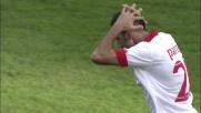 La punizione di Parisi è potente ma non precisa: l'Udinese si salva
