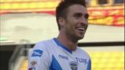 Caracciolo come un rapace, segna lui il goal del Brescia a Lecce