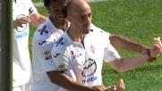 Borja Valero in tap-in realizza il goal del tris viola contro il Verona