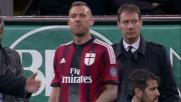 Menez protesta con l'arbitro per l'espulsione contro il Genoa