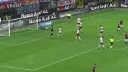 Contro il Carpi Josè Mauri di testa cerca il suo primo goal con la maglia rossonera ma la palla esce di poco