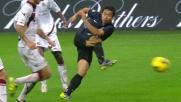 Nagatomo segna a San Siro contro il Livorno