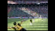 De Sanctis respinge il destro di Ricardo Oliveira