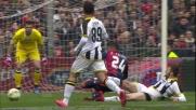 Recupero in tackle di Hertaux contro il Genoa