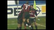 Bierhoff firma il goal del pareggio nel derby di Milano con un colpo di testa