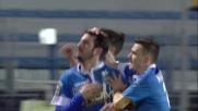 Dagli 11 metri Saponara firma il goal del momentaneo pareggio dell'Empoli sull'Udinese