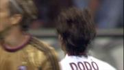 Il tiro di Dodò è parato in calcio d'angolo da Abbiati