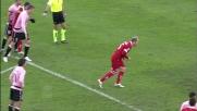 Masiello su rigore segna il goal del pareggio tra Bari e Palermo