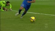 Pato non concretizza l'assist di Kakà contro l'Udinese