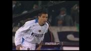 Recupero difensivo di Ivan Cordoba che di testa sventa un pericolo nell'area di rigore dell'Inter