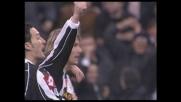 La punizione di Nedved propizia il goal della Juventus