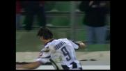 Iaquinta regala il goal della vittoria all'Udinese contro la Fiorentina