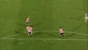 Quagliarella segna un goal con un tiro a giro al Renzo Barbera