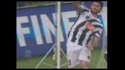 Iaquinta non sbaglia dal dischetto e firma il goal del 2-0 per l'Udinese contro il Siena