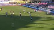 Floccari realizza il goal del vantaggio laziale contro il Bologna