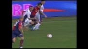 Borriello lascia sul posto i difensori della Fiorentina con un tunnel