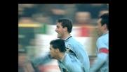 Colpo di testa implacabile di Vieri in goal a Bologna