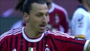 A San Siro Ibrahimovic raddoppia sul Lecce con un destro potente da fuori area
