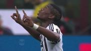 Pogba segna il goal del 2-1 per la Juventus a San Siro contro il Milan
