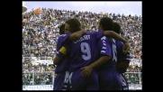 La zampata di Batistuta per il goal che chiude il derby con l'Empoli