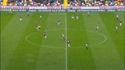 Bella uscita di Da Costa su cross di Hallfredsson: sventato l'attacco dell'Udinese