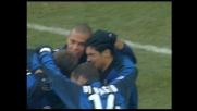 Ronaldo segna di testa il goal del raddoppio dell'Inter con il Verona