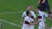 Ranocchia vola in cielo per il goal di testa al Cagliari