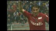 Conti completa la rimonta ai danni della Sampdoria realizzando il goal del 3-2 per il Cagliari