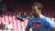 Higuain porta in vantaggio il Napoli con un goal da calcio di rigore