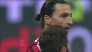Al Meazza Ibrahimovic dal limite segna il goal del 2-0 al Chievo