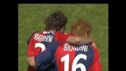 Secondo goal di Marchini contro la Roma a Cagliari