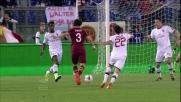 Dodò sfiora il goal di esterno destro contro il Milan all'Olimpico di Roma