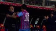 Lodi su punizione segna il terzo goal all'Udinese con la complicità di una deviazione