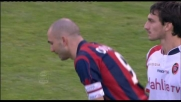 Il tiro di Di Vaio accarezza il palo, che occasione contro il Cagliari!