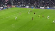 Paletta recupera in tackle su Tevez allo Juventus Stadium