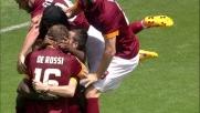 Doumbia punisce l'errore di Roncaglia con un goal che porta in vantaggio la Roma