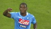 Zapata controllo e tiro mancino: è il goal del raddoppio del Napoli