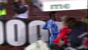 Insigne segna il goal del momentaneo 2 a 0 al San Paolo
