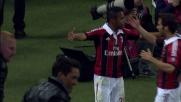 Robinho di testa segna il goal del raddoppio al Meazza