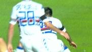 Gabbiadini beffa Cragno e segna il goal del vantaggio doriano a Cagliari