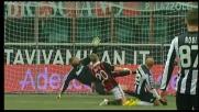Maccarone sfiora il goal a San Siro, palla alta contro il Milan
